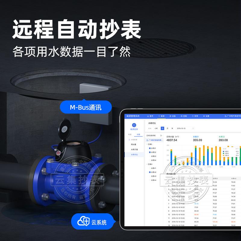工廠用M-BUS有線螺翼式可拆卸水錶DN300