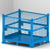 摺疊式網格箱貨架倉儲籠可堆式週轉箱