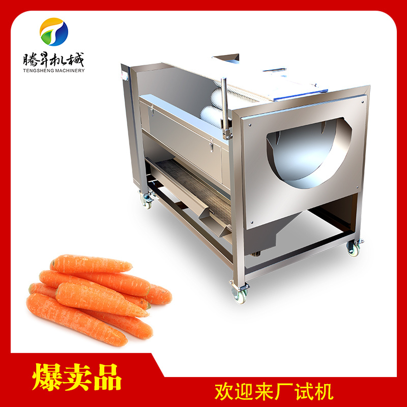 多功能瓜果清洗機 中型洗蓮藕機 洗蘿蔔機 接受非標