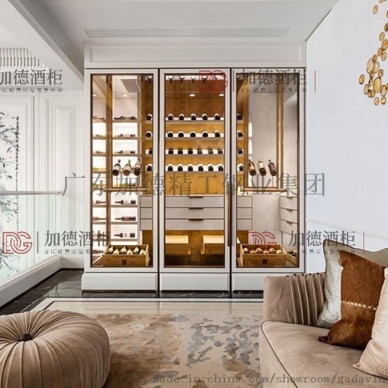 厂家定制 不锈钢恒温酒柜 会所家用  柜 恒温酒窖