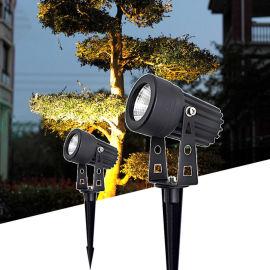 led投光灯射灯照树灯插地灯投射室外防水景观庭院灯