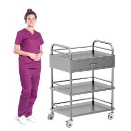 SKH006-2 不锈钢治疗车 病人推车