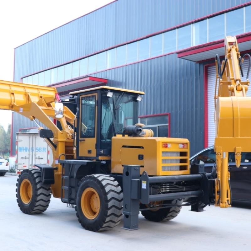 轮胎式铲装挖掘一体工程车 渐变30型两头忙