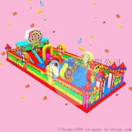 好玩又漂亮的儿童欢乐充气城堡在新疆**