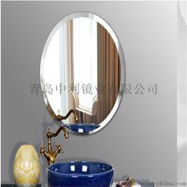 工厂定浴室玻璃镜子化妆银镜环保无铜镜深加工