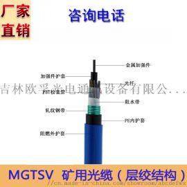 光缆厂家 48芯单模矿用MGTSV-48B1光缆