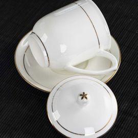 景德镇陶瓷杯子 骨瓷水杯 办公茶杯子定制logo