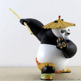 厂家定制 功夫熊猫 塑胶卡通人物公仔