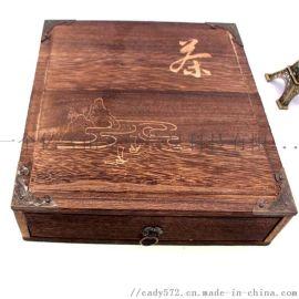 工艺品厂家直销烧桐木质茶饼盒