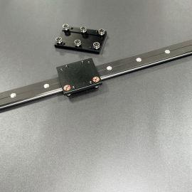 外置双轴心直线导轨WGR50滚轮滑块光轴滑轨