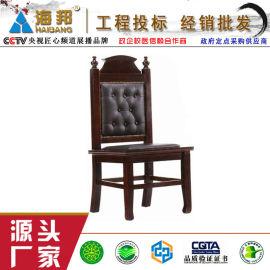 诉讼椅 绿色环保油漆橡木实木椅架 中山厂家诉讼椅