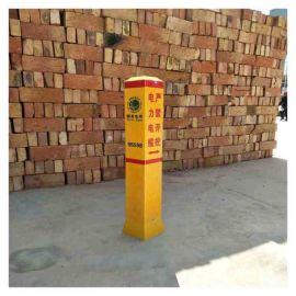 电力警示牌 霈凯 玻璃钢警示桩厂家 质量安全可靠