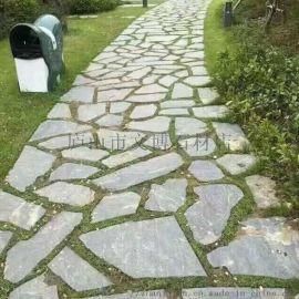 供应江西不规则青石板铺地乱石公园防滑碎拼乱石