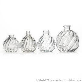 香薰瓶 创意南瓜瓶 玻璃插花瓶摆件家居装饰