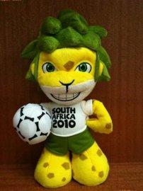 定制生产南非世界杯吉祥物扎库米毛绒玩具 可来图来样