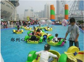 儿童水上手摇船充气水池支架游泳池
