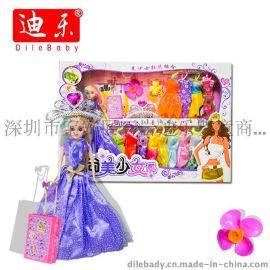 芭芘娃娃 厂家直销 最新款芭比 超大礼盒玩具批发 彩盒礼服套装 163 益智儿童玩具 搪胶娃娃