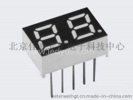 0.28英寸双二2位led数码管黄绿光北京天津河北数字面板显示2821A/B