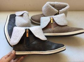 秋冬季外贸原单  003加绒加厚雪地靴  棉鞋 短筒女靴子
