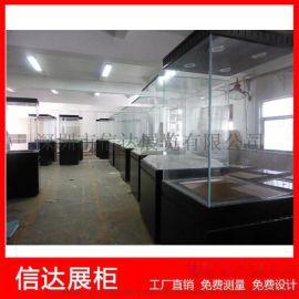 博物馆木质烤漆古玩展览柜文物陈列柜透明玻璃展示柜