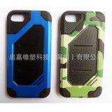 厂家直销苹果、三星、华为、小米手机套PC+TPU迷彩纹单色迷彩豹纹手机