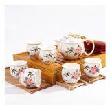 整套哥窯功夫茶具套裝特價陶瓷茶壺開片瓷器冰裂釉禮盒裝