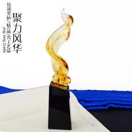 古法琉璃琉璃獎杯 廣州獎杯工藝品擺件定制廠家