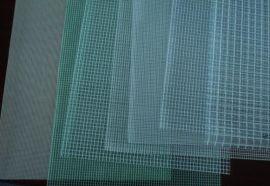 厂家供应0.3厚度300D9*9PVC箱包专用透明夹网布