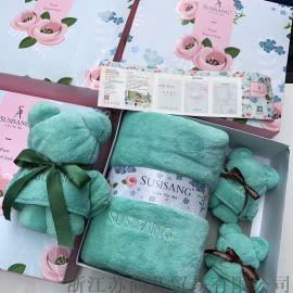 苏尚儿毛巾浴巾礼盒套装
