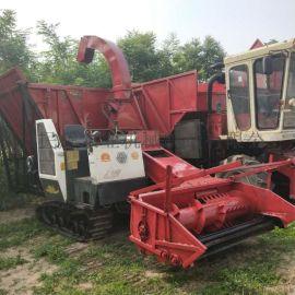 履带式玉米秸秆收割青储机 自走式皇竹草粉碎收割机