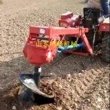 悬挂式钻树坑机,小四轮拖拉机带的挖坑机