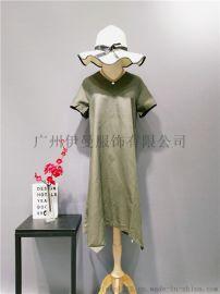 广州伊曼服饰品牌折扣女装,尾货市场,麻本色品牌女装