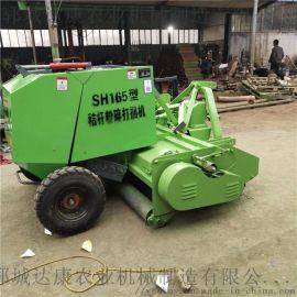 河南小麦秸秆打捆机价钱 130型青贮秸秆打捆机