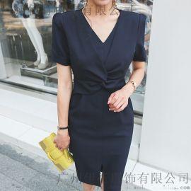 一三国际北京批发尾货市场在哪里折扣 原单外贸品牌女装微信一手货源尾货粉色针织衫