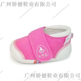 广州厂家功能学步鞋 欧标纯棉宝宝可赤足穿
