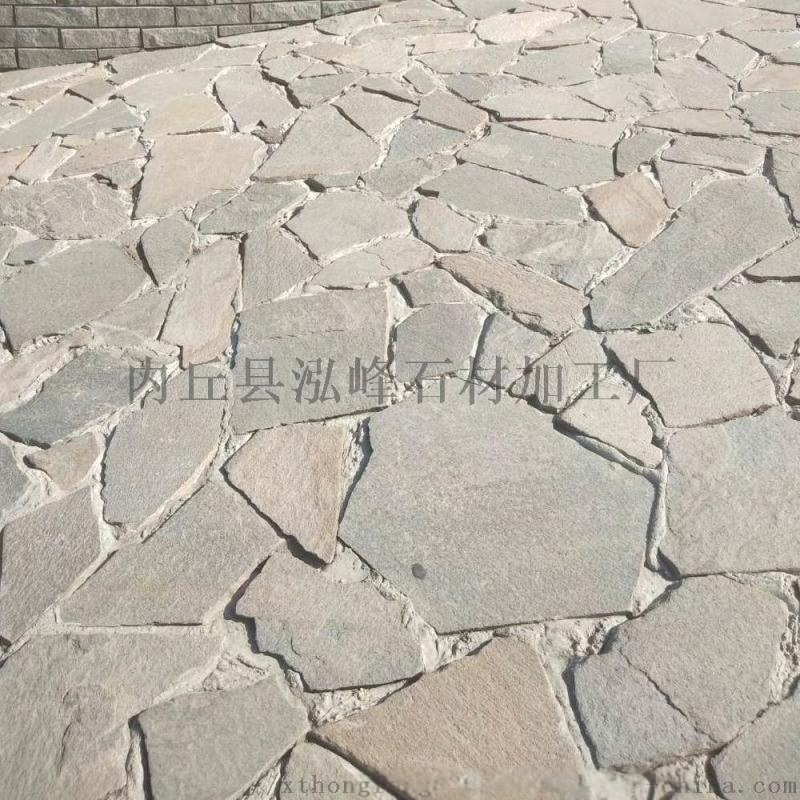 推荐石板碎拼青石板不规则青石石材青石板乱形石