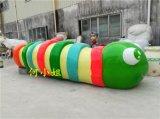 色彩鮮豔的6米長大型卡通動物雕塑毛毛蟲雕塑擺件