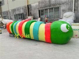 色彩鲜艳的6米长大型卡通动物雕塑毛毛虫雕塑摆件