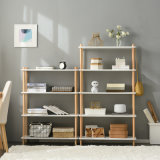 置物架实木书架简易置物架多层组合收纳储物货架