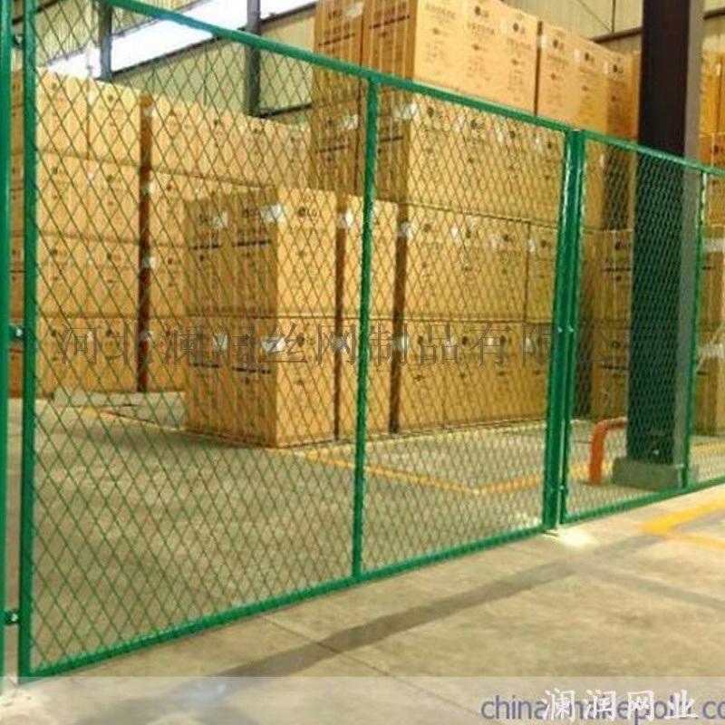 佳木斯車間黃色綠色隔斷網 車間防護隔離網