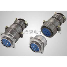 防水铝壳P32J10Q-R插头 P32J8-A弯式插座8芯10芯圆形航空插头插座