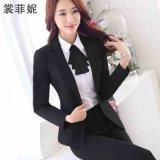 春秋款OL长袖职业装女装套装女士西装女工作服时尚韩版银行装