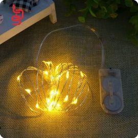 深圳立鼎盛供應電池盒裝飾燈串 led銅線防水燈串