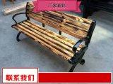实木长条座椅选奥博 户外防腐木座椅供应