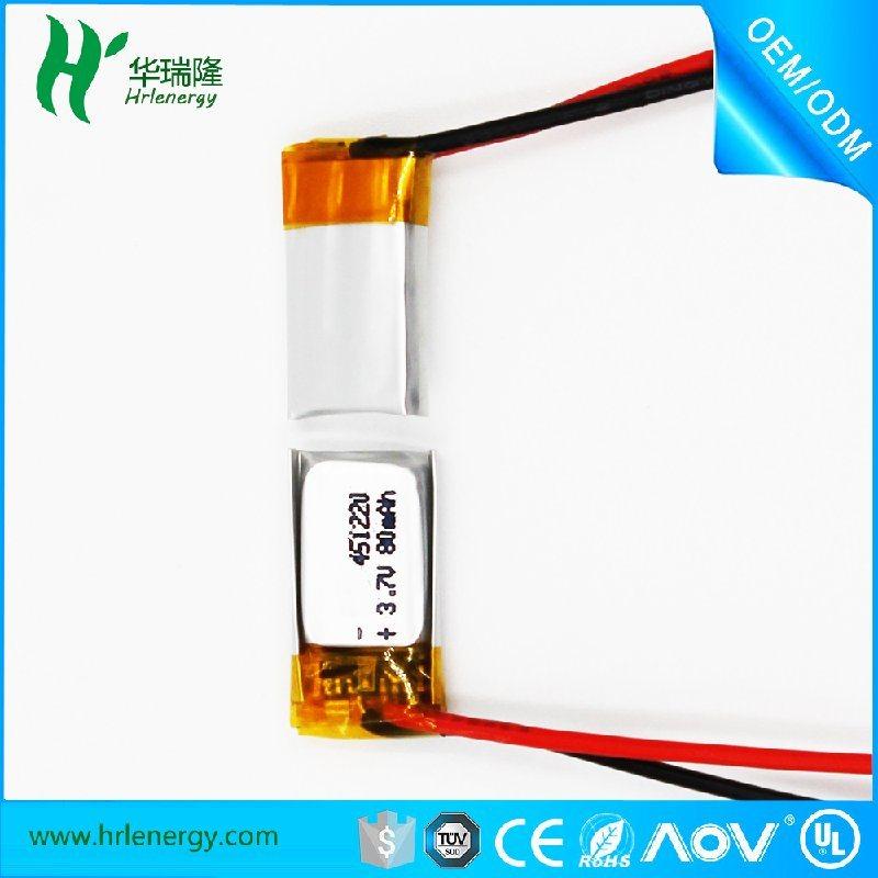 聚合物鋰電池工廠 451220-80mah 電池