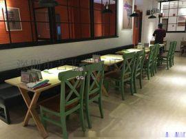 罗湖茶餐厅实木桌椅定制,横岗家具厂制作卡座沙发