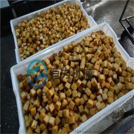 鱼豆腐油炸生产线自动控温 豆腐块油炸设备省人工