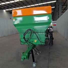 大型撒肥机厂家 牵引式撒粪车 块状肥料破碎抛撒机