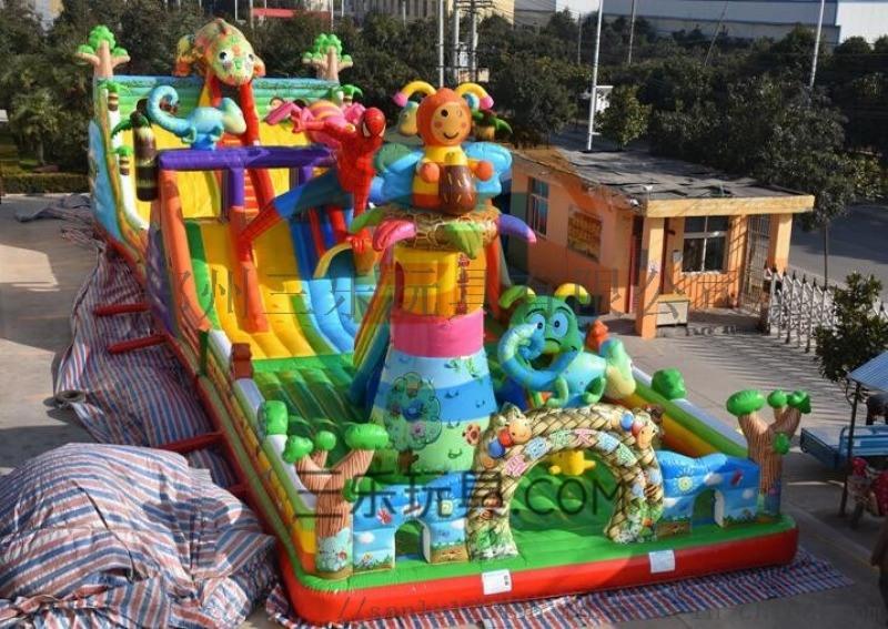 湖南益阳充气水上滑梯,订制水上滑梯各种款式