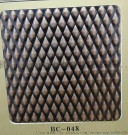 青古铜不锈钢木纹板厂家